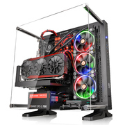 Thermaltake Core P3 黑色 开放式机箱(为MOD水冷设计/支持长显卡/可壁挂/双U3/游戏水冷机箱)