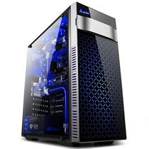 金河田 预见V5  黑 水冷机箱 (ATX/钢化玻璃面板/全侧透/U3/网咖机箱)产品图片主图