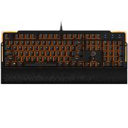 达尔优 EK815 104键 橙色背光全键无冲水流游戏机械键盘 黑色 黑轴