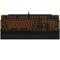 达尔优 EK815 104键 橙色背光全键无冲水流游戏机械键盘 黑色 红轴产品图片1