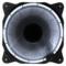 乔思伯 Eclipse日食-炫光白 12CM机箱风扇 (LED发光风扇/PWM温控/主板4PIN接口)产品图片1