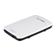 """阿卡西斯  2.5""""SATA移动硬盘盒USB3.0 A口 亮白配黑 (支持9.5""""SATA HDD/带开关/免工具/FA-05US)"""