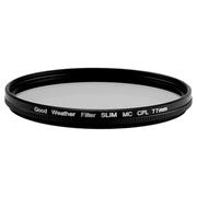 天气不错 77mm MRC CPL超薄偏振偏光滤镜 适合佳能24-105/24-70尼康24-120/24-70/70-200等镜头