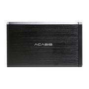 """阿卡西斯  3.5""""SATA硬盘盒USB3.0 黑色 (全铝拉丝散热好/移动硬盘盒/外接电源/送螺丝刀/BA-06US)"""