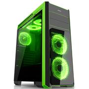 先马 塞恩5豪华版 电脑机箱 双面钢化玻璃/宽体/亚克力全侧透/配3把风扇/支持SSD硬盘、长显卡、水冷