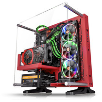 Thermaltake Core P3 红色 壁挂水冷机箱(开放式机箱/水冷DIY新视野/模块化/双U3/ATX机箱)产品图片主图