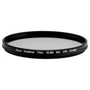天气不错 52mm MRC CPL超薄偏振偏光滤镜 适合佳能EF-M55-200/EF-M18-55尼康AF-S18-55等镜头