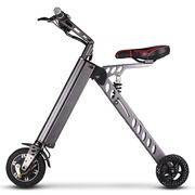 酷车e族 折叠电动车自行车成人代步车锂电池电瓶车 老年代步车 深灰色