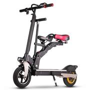 酷车e族 电动滑板车 锂电池成人折叠代步自行车 带儿童座椅 10英寸