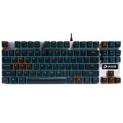 达尔优 87键机械合金版游戏背光机械键盘 黑银色 黑轴