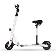 酷车e族 电动滑板车 可折叠成人便携式代步自行车 带座椅