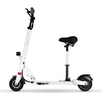 酷车e族 电动滑板车 可折叠成人便携式代步自行车 带座椅产品图片主图