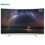 海信 VIDAALED55V1UC 55英寸VIDAA-TV标准版 4K超高清智能曲面电视(香槟金)