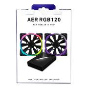 NZXT 恩杰  Aer RGB 120&Hue+套装(120mm RGB风扇两枚&Hue+灯光控制器一个/可变色可编程/大风量/静音)