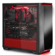 追风者 416PSTG 黑红色 中塔式机箱(ATX钢化玻璃静音版/RGB灯控/调速主动降噪/支持280水冷)
