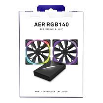 NZXT 恩杰  Aer RGB 140&Hue+套装(140mm RGB风扇两枚&Hue+灯光控制器一个/可变色可编程/大风量/静音)产品图片主图