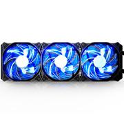 先马 冰河360 CPU水冷散热器 (双平台/一体式三风扇/陶瓷轴承水泵/液压轴承PWM风扇/酷炫蓝灯)