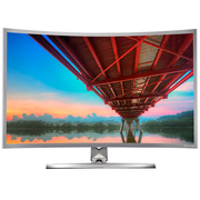 技讯(GVNXUHI) JXQ3202 31.5英寸曲面办公娱乐一体机电脑(J1900 4G 120G WIFI 无线键鼠 DOS)银灰色