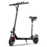酷车e族 电动滑板车 成人电动折叠车 迷你电动便捷代步车 锂电池电瓶自行车 带座椅 30KM续航