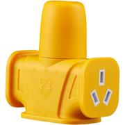 拳王 QW-J002W 3孔无线插板 抗压防摔工程专用材料打造 经久耐用