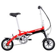 喜德盛 折叠迷你电动车 mini denpo 超轻 电动自行车 锂电池 电动车 迷你2 单电池 红色 12寸