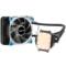 鑫谷 水凌霜120 一体式水冷CPU散热器(LED灯光/多平台通用/4针智能温控风扇/带硅脂/120冷排)产品图片2
