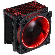 乔思伯 CR-201红色 CPU散热器 (多平台/4热管/智能温控/12CM风扇/发红光/附带硅脂)