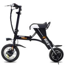 法克斯 折叠电动自行车锂电电动滑板车成人迷你单车便携时尚助力车代步车代驾 黑色30公里产品图片主图