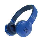 JBL E45BT 蓝色 可折叠便携头戴式蓝牙耳机 无线立体声音乐耳机