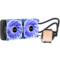 鑫谷 水凌霜240 一体式水冷CPU散热器(LED灯光/多平台通用/4针智能温控风扇/带硅脂/240冷排)产品图片3