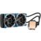 鑫谷 水凌霜240 一体式水冷CPU散热器(LED灯光/多平台通用/4针智能温控风扇/带硅脂/240冷排)产品图片4