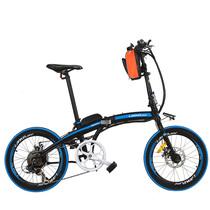 蓝克雷斯 电动自行车20寸36/48V锂电动折叠自行车成人代驾助力车电动车 48V12a/20寸黑蓝色产品图片主图