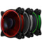 乔思伯 FR-331 12CM机箱风扇 RGB风扇 三风扇套装 (LED RGB 256色发光风扇/手动高速低速切换)产品图片1