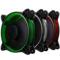 乔思伯 FR-331 12CM机箱风扇 RGB风扇 三风扇套装 (LED RGB 256色发光风扇/手动高速低速切换)产品图片2