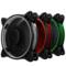乔思伯 FR-331 12CM机箱风扇 RGB风扇 三风扇套装 (LED RGB 256色发光风扇/手动高速低速切换)产品图片3