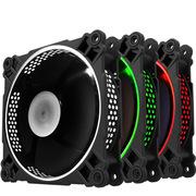 乔思伯 FR-231 12CM机箱风扇 RGB风扇 三风扇套装 (LED RGB 256色发光风扇/手动高速低速切换)