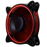 乔思伯 FR-301P 炫光红 12CM机箱风扇 (12CM/红色LED/PWM温控/散热器风扇/双滚珠/主板4PIN接口)