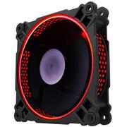 乔思伯 FR-201P 炫光红 12CM机箱风扇 (12CM/红色LED/PWM温控/散热器风扇/双滚珠/主板4PIN接口)