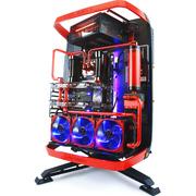 迎广 X-Frame 2.0 黑红 全塔机箱(支持EATX主板/30周年限量版/自带1065W白金全模透光电源)