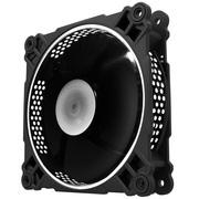 乔思伯 FR-201P-炫光白 12CM机箱风扇 (12CM/白色LED/PWM温控/散热器风扇/双滚珠/主板4PIN接口)
