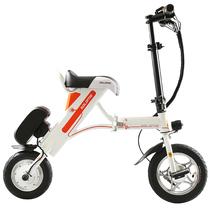 索罗门 电动车 锂电池迷你折叠式 小电动自行车代步电瓶车代驾单车 K1-白色 30km产品图片主图