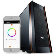 爱国者  风行智能版 黑色 中塔式机箱(支持ATX主板/配3只RGB风扇/APP控制开关机)