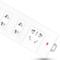 得力 18251 新国标4位2米插座/插排/插线板/接线板(2单孔+2组合孔) 安全保护门 白色产品图片4