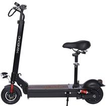 悍邦 锂电池滑板车代驾电动车自行车可折叠前后减震电动滑板车代步车迷你电瓶车 电动滑板车成人 彩屏前后避震10.4AH带座椅30-40公里带遥控产品图片主图