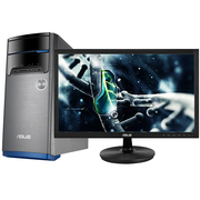 华硕 飞影M32AD 台式电脑 (I3-4170 4GB 1T 2G独显 GT720 DVD 键鼠)23英寸