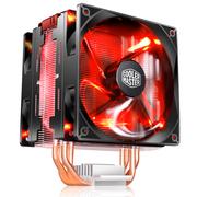 酷冷  T400 Pro CPU 红盖版散热器(双平台/4热管/PWM温控/双风扇/背锁扣具/直触热管)