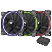 Thermaltake Riing 14cm RGB 套装软体版 机箱风扇(软件控制/风扇*3/RGB变色/减震系统/静音技术)