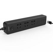 ORICO DPC-3A3U智能3口USB便捷旅行插座 3位插座/插排/插线板/接线板 1.5米 黑色