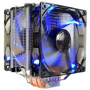 超频三 东海X6 CPU散热器 (多平台/5热管/12cm双风扇/蓝光智能/cpu风扇/附带硅脂)