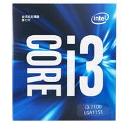 英特尔 酷睿双核I3-7100 盒装CPU处理器